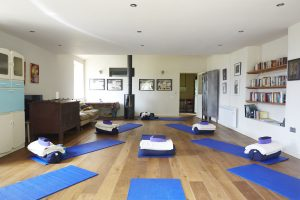 Gorgeous yoga space at T's Farm, More Balanced Living Bath Retreat