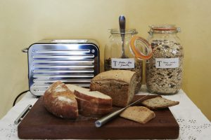 home made bread, museli and granola at More Balanced Living Retreats in Bath