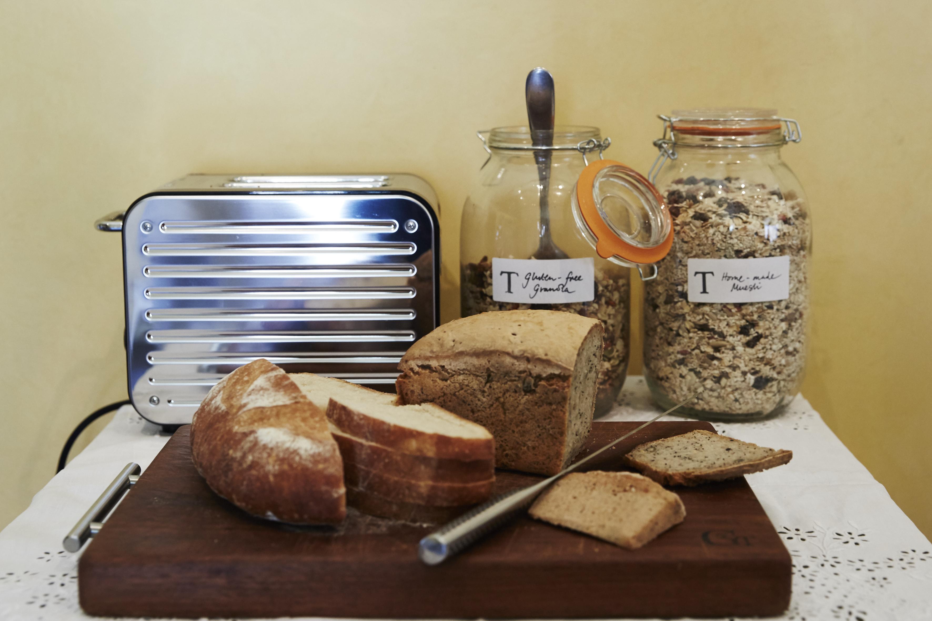 Freshly baked breads on More Balanced Living Retreats, Bath