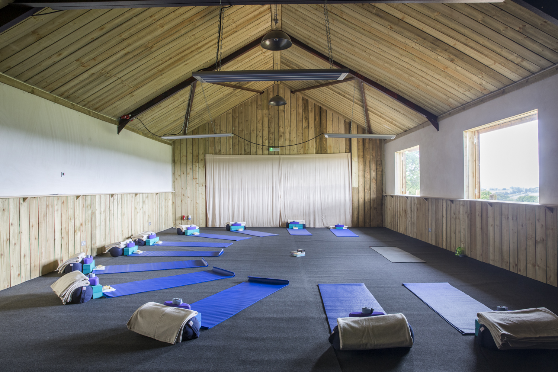 Gorgeous yoga space at T's Farm, More Balanced Living Bath Retreat